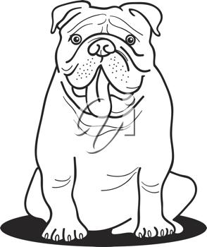 Iclipart Royalty Free Clipart Image Of A Bulldog Dog Coloring Page Bulldog Drawing Bulldog Art