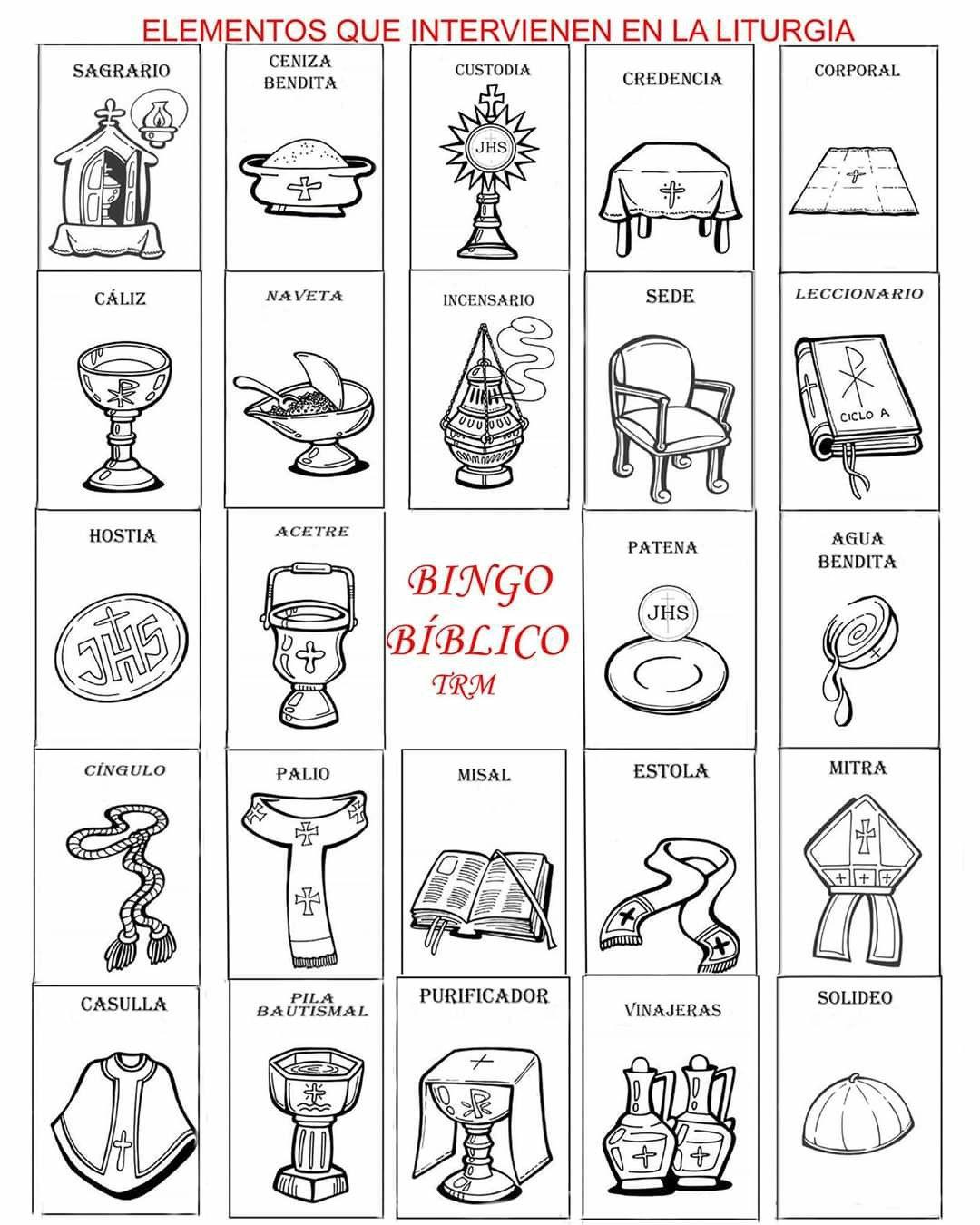 Pin by Marita Soto Masís on elementos de la liturgia   Cards, Bingo