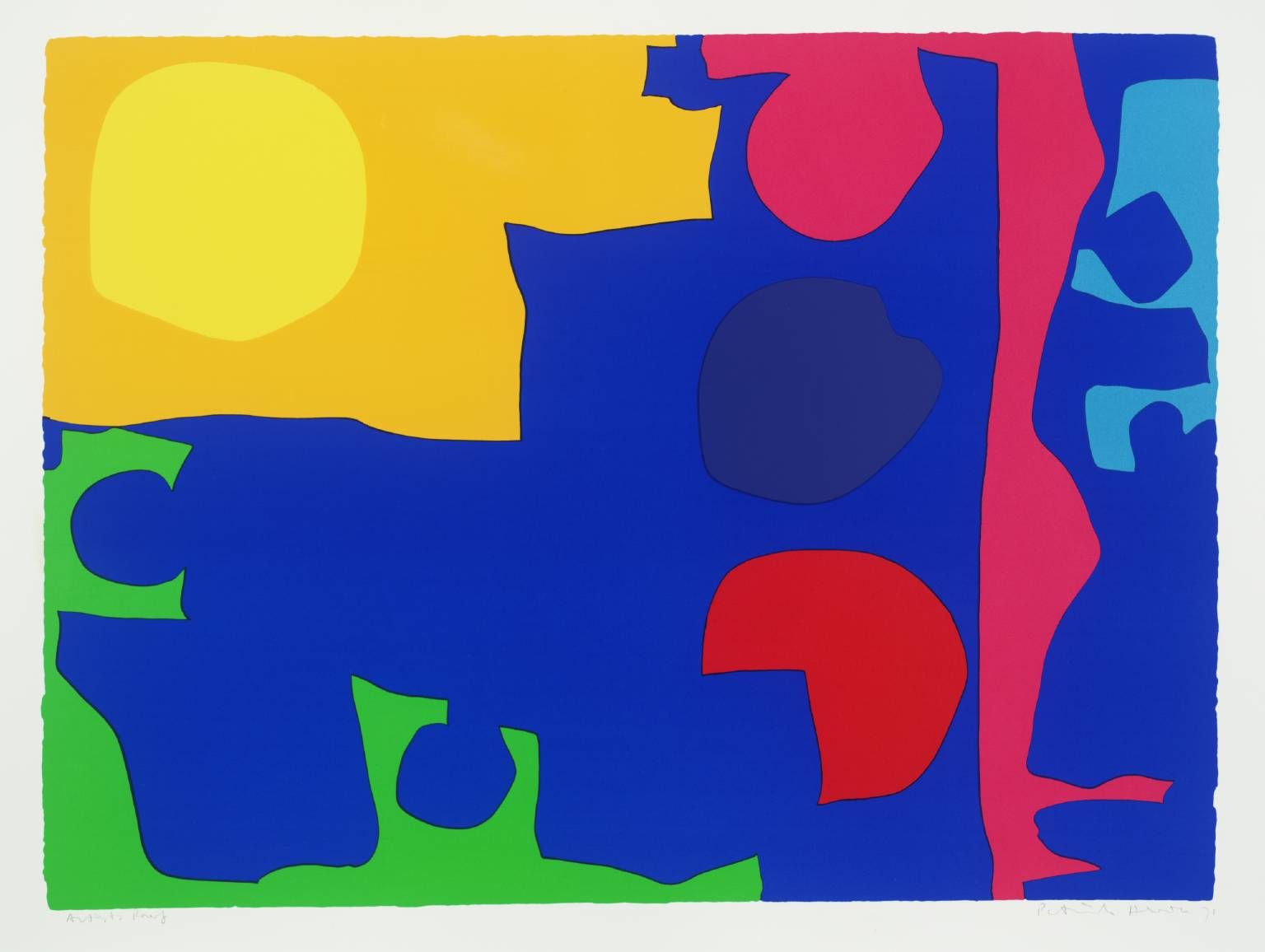 Patrick Heron, Eight Including Ultramarine 1971