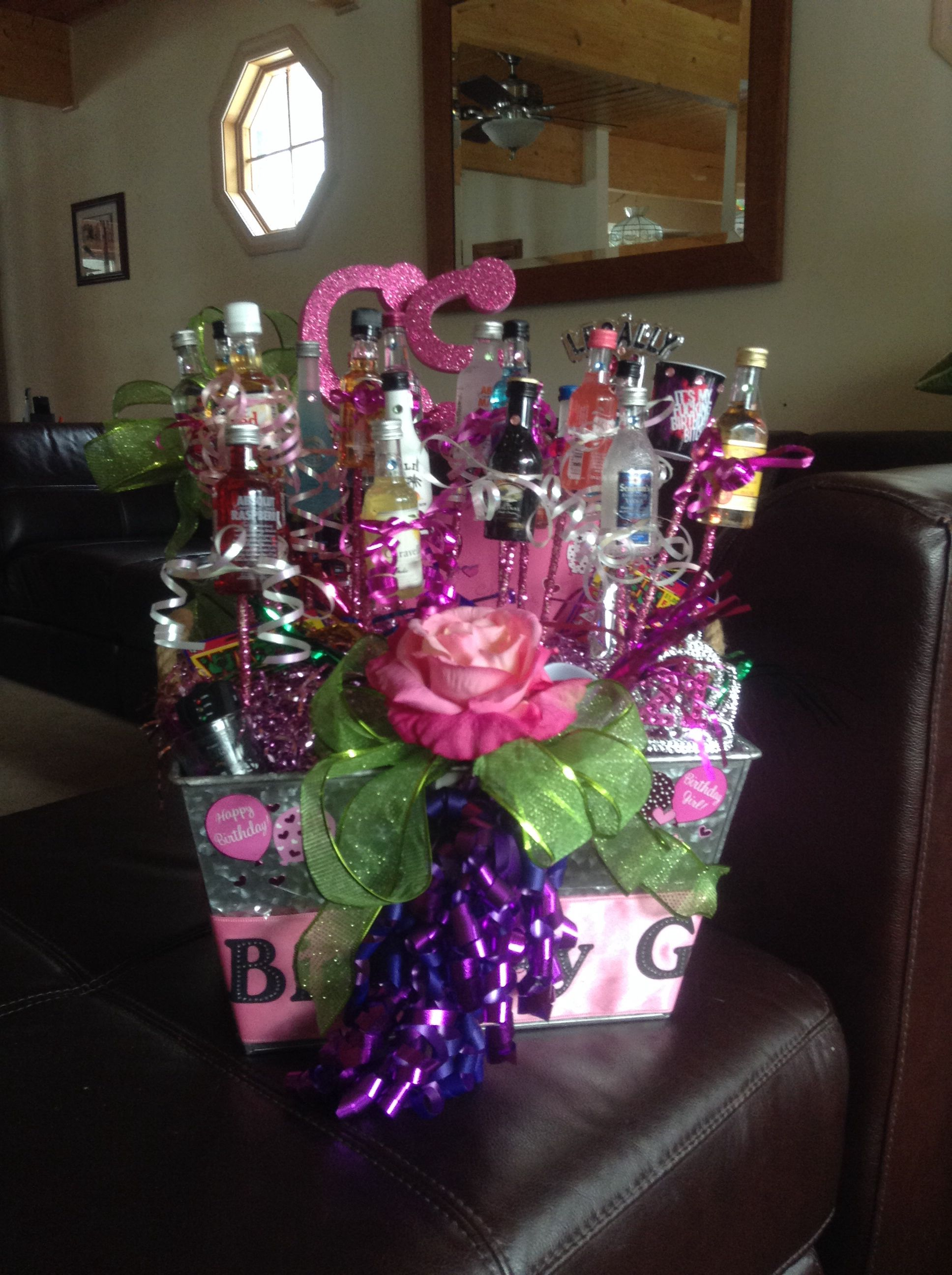 A gift basket for my daughters 21st birthday birthday