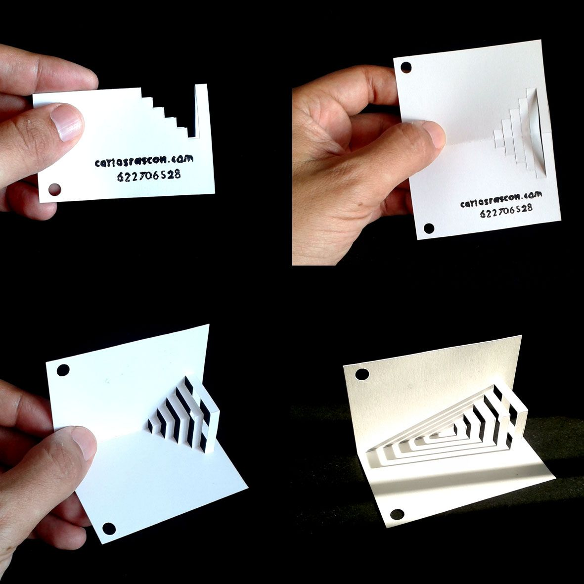 This is my new kirigami business card completely handmade this is my new kirigami business card completely handmade httpcarlosrascon cutout papercut papercutting origami kirigami jeuxipadfo Gallery