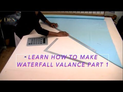 Learn How To Make Waterfall Valance Part 1 Waterfall Valance Diy Valance Valance Patterns