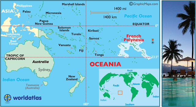 Locator Map Of French Polynesia Tahiti Bora Bora Cook