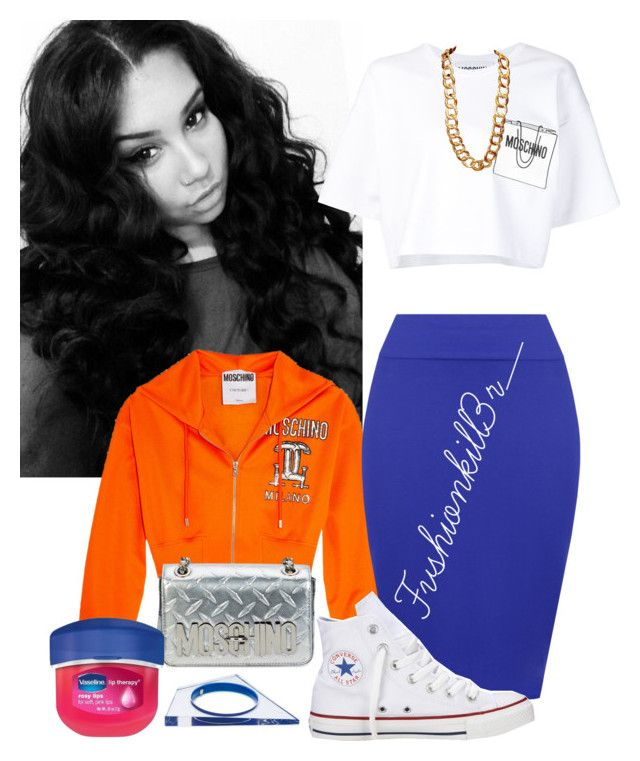 """""""Untitled #466"""" by fvshionkill3r on Polyvore featuring Moschino, WearAll, Converse, Coach, Alexis Bittar and Therapy"""