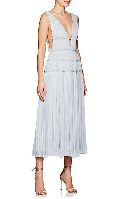 Womens Silk Plissé Midi-Dress J. Mendel Collections Cheap Price For Sale For Sale Visit Quality For Sale Free Shipping BewXU