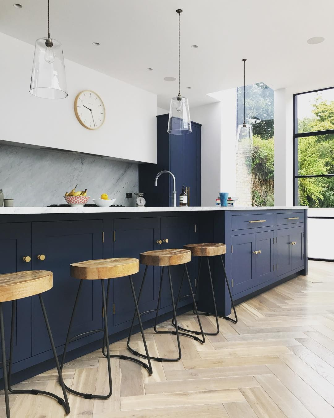 Navy Marble And Brass Kitchen Decor Kitchen Decor Kitchen Remodel Layout Kitchen Remodel