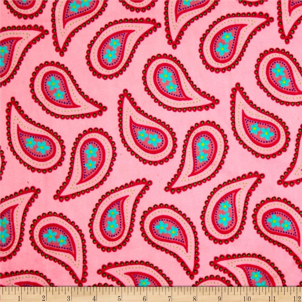 Minky gumdrop pink from fabricdotcom this unbelievably soft and