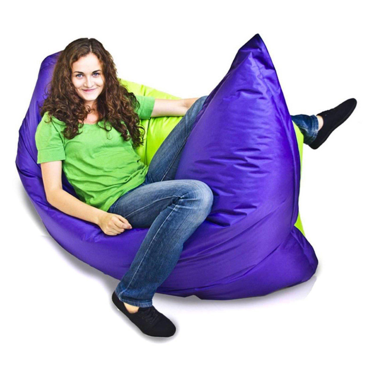 Wondrous Turbo Beanbags Pillow Style Large Bean Bag Chair Violet And Machost Co Dining Chair Design Ideas Machostcouk