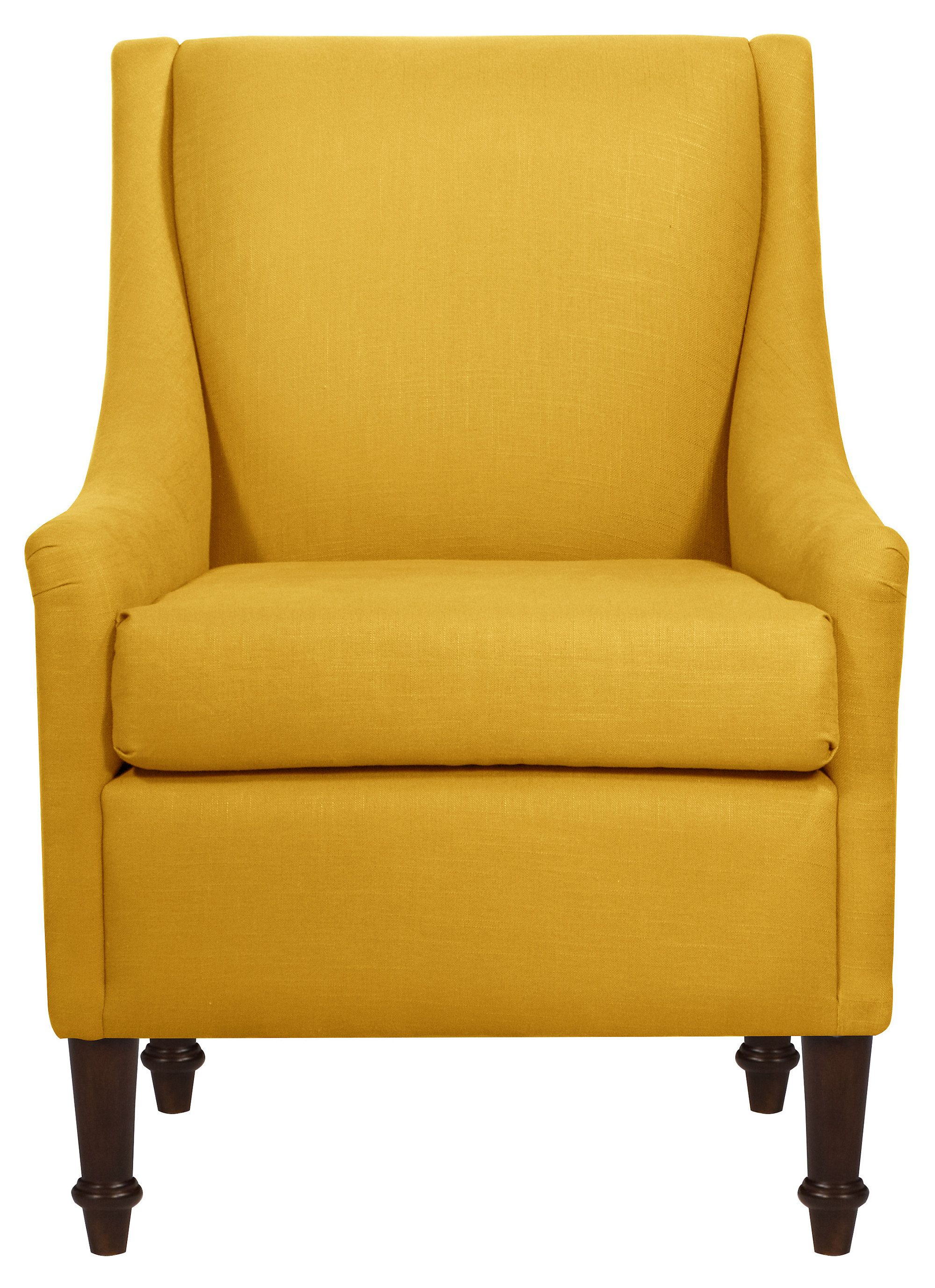 Beau Holmes Chair, French Yellow Linen | One Kings Lane