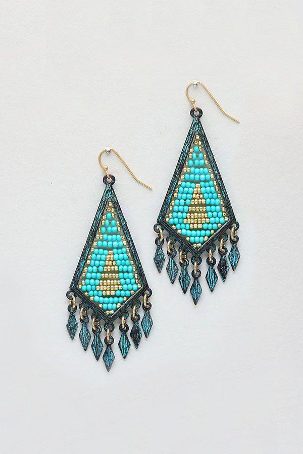 Pretty Patina Chandelier Earrings