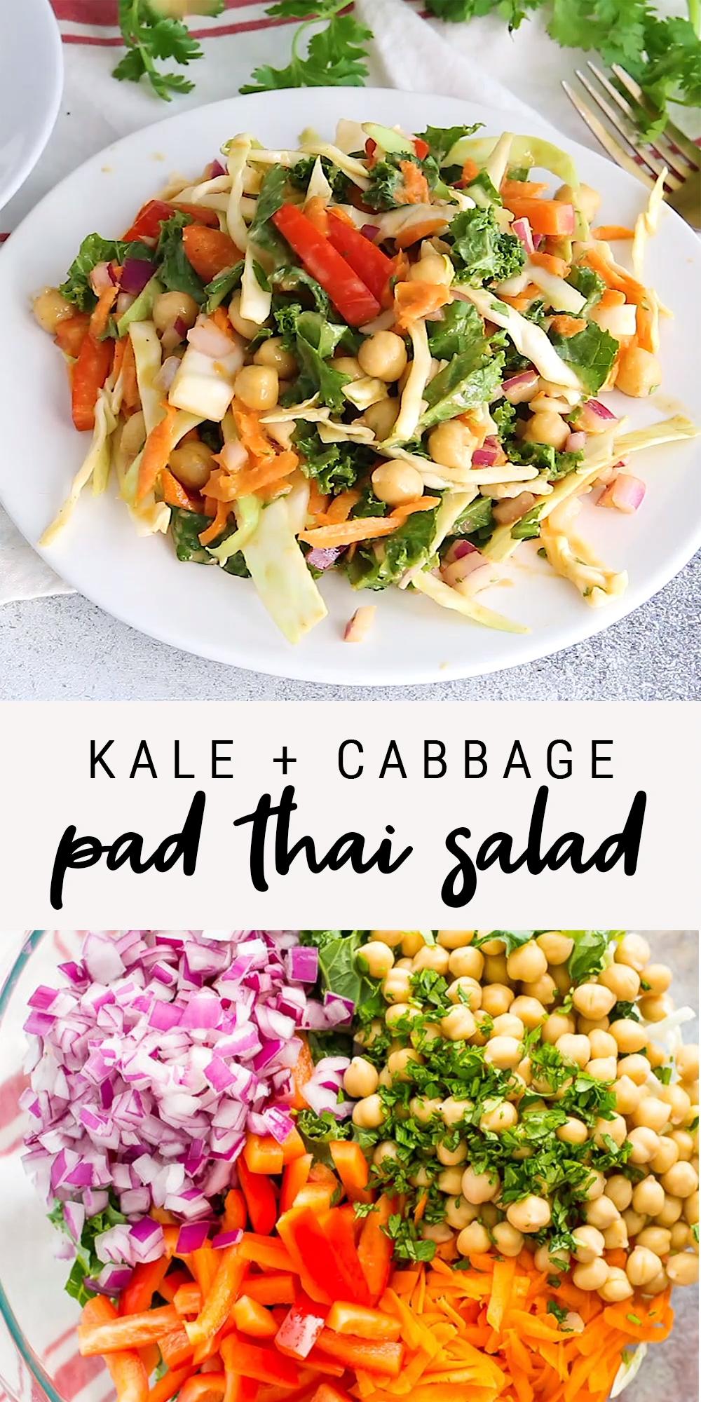 Kale + Cabbage Pad Thai Salad