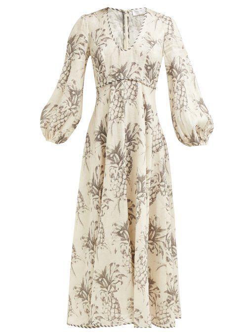 bdf86856ec9 Zimmermann Juno Rosa Batik-print linen dress  boho  bohostyle  bohochic   beachwear  summers…