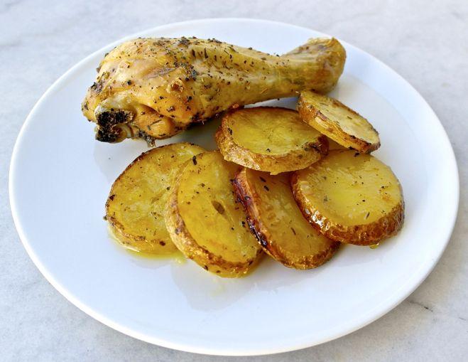 Chicken Dinner, Garlic, Greek Chicken And Potatoes