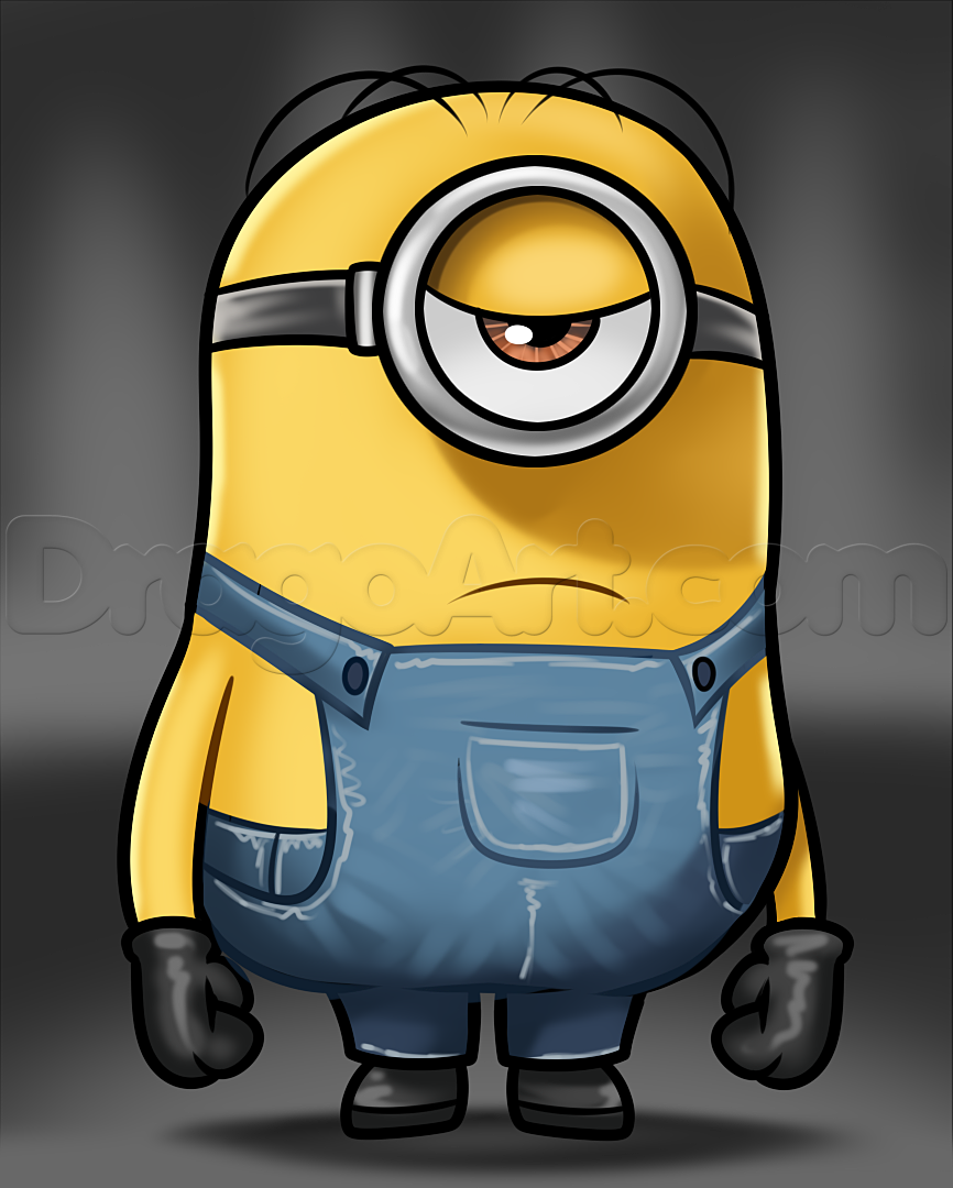 Show me how to draw a minion - How To Draw Stuart From Minions Step By Step Characters Pop
