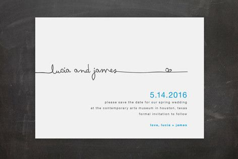 The Happy Couple Save the Date Postcards