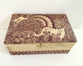 Bohemian Henna Decorated Box