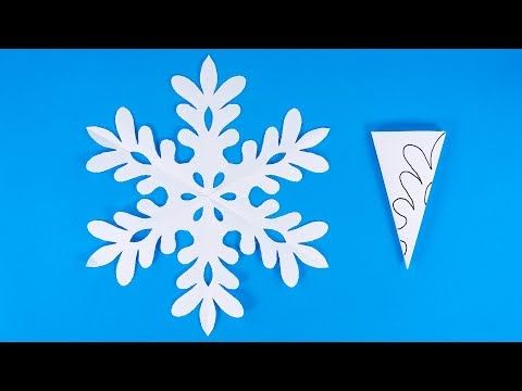 How to make a snowflake out of paper | DIY Paper S