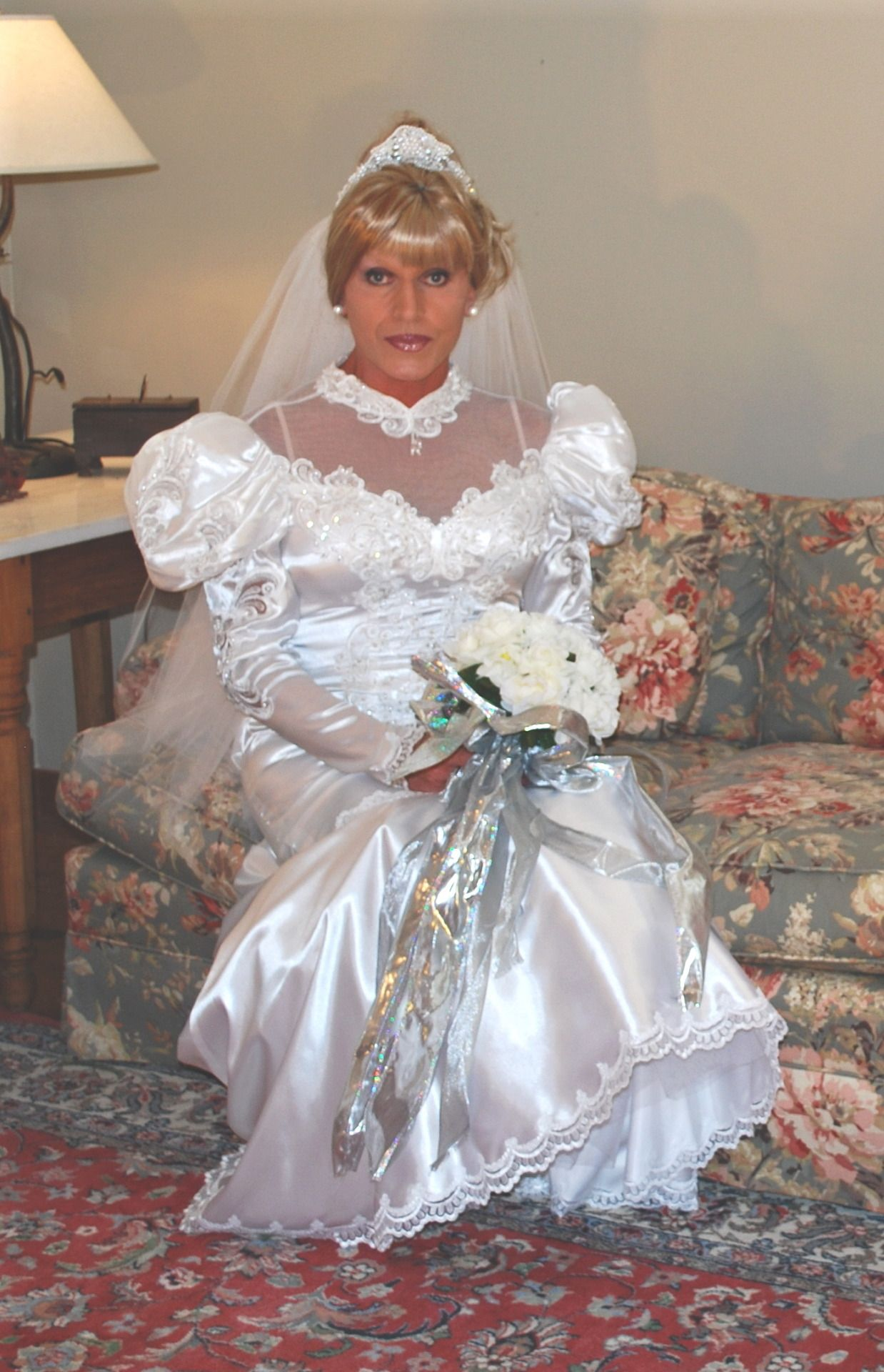 My big fat gypsy wedding dress with lights  crossoverdress uc Lisa Colette Thomas ud  Satin  Pinterest