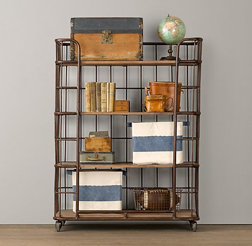 Industrial Baker S Storage Rack Tall With Images Bookcase