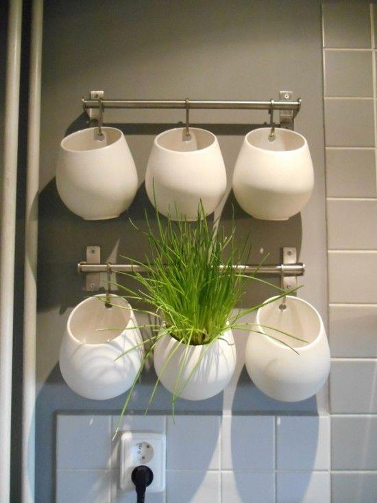 Kitchen Wall Herb Garden Part - 35: Wall Herb Garden Made Of Ikea Asker And Grundtal