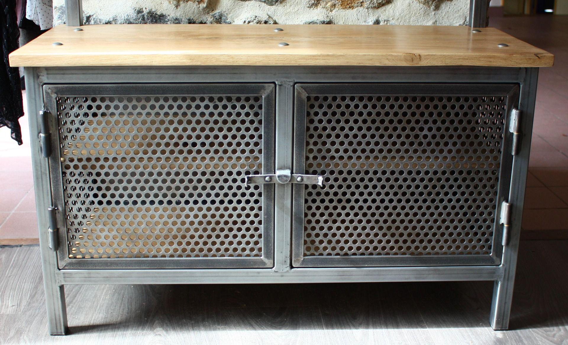 Meuble D Entrée Industriel meuble métal : meuble d'entrée, vestiaire, porte manteaux