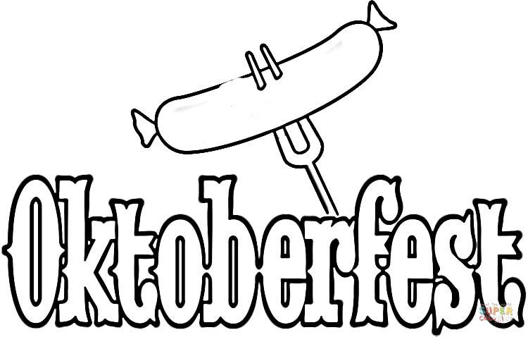 Welcome To Oktoberfest Coloring Page Free Printable Coloring