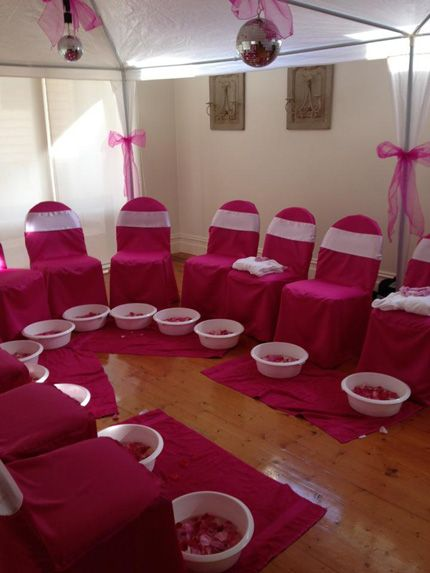 Pedicure party little girls spa birthday party ideas for Spa ideas for home