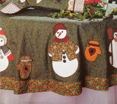 toalha de mesa de natal - patchwork com molde