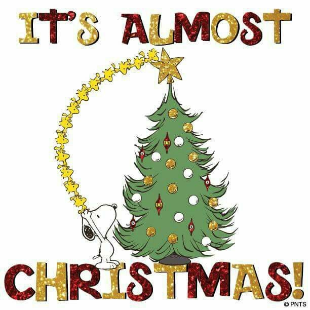 It S Almost Christmas With Snoopy Snoopy Christmas Charlie Brown Christmas Peanuts Christmas