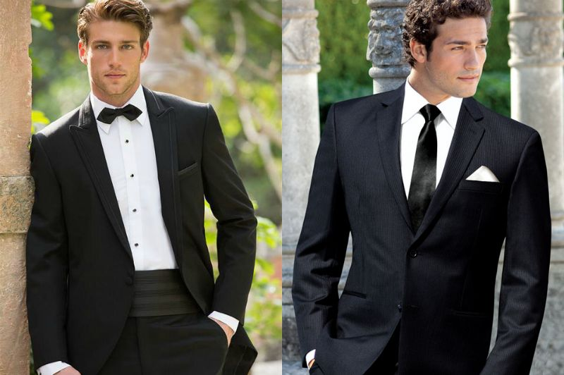Mens Black Wedding Outfits
