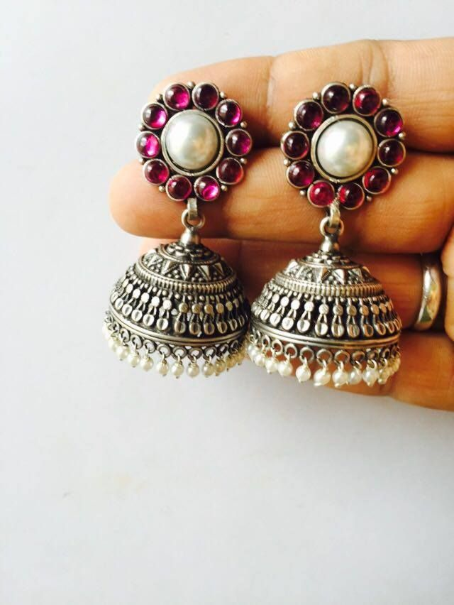 In Official Website Ethnic Handmade High Finish Two Tone Yellow Glass Stone Tops Stud Earring Fashionable Style;