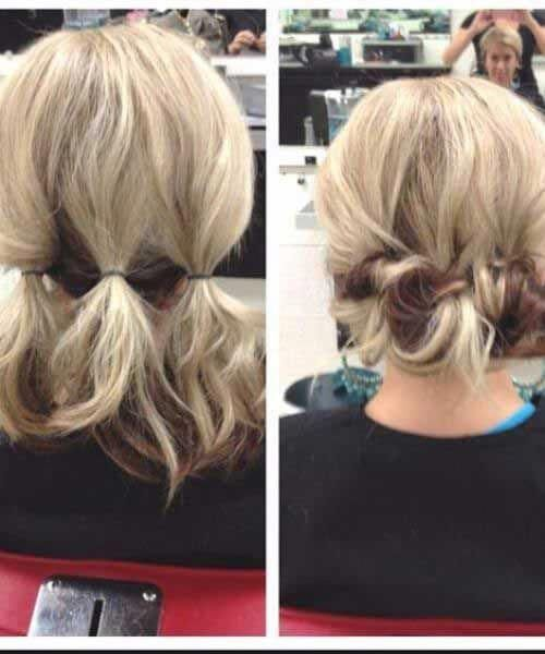 updos for short hair #Hairstyles #hair#follow  #fitness  #cosmetics #easyupdos