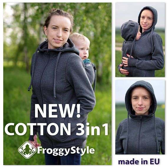 7aacb413a4c5 NEW! 3-in-1 cotton babywearing jacket from FROGGY STYLE For carrying ...