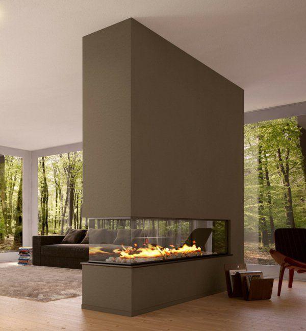 Kamin Raumteiler trennwand mit einem modernen kamin raumteiler ideen rund ums