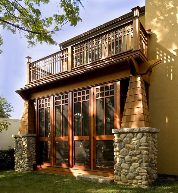 Craftsman Screened Porch Desire With