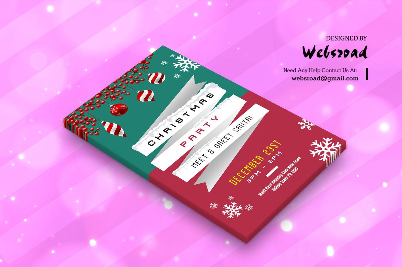 Christmas Greeting Card Template By Websroad On Envato Elements Christmas Greeting Card Template Greeting Card Template Christmas Greeting Cards