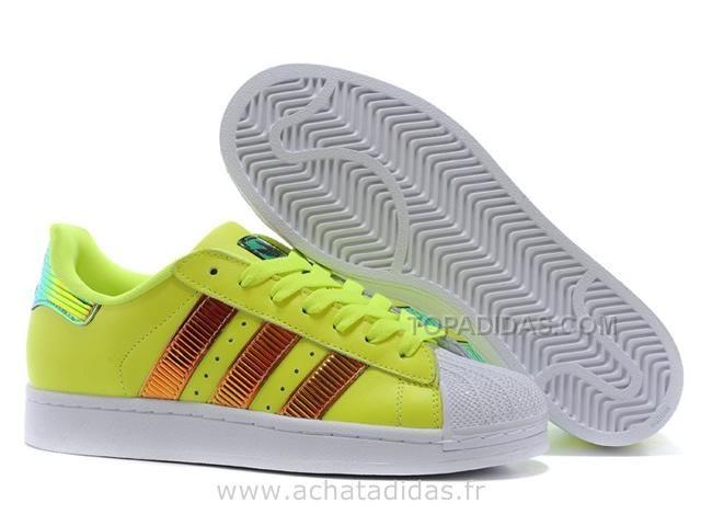 Adidas Superstar II Bling XL Citron Greey Gold Adidas Superstar Womens