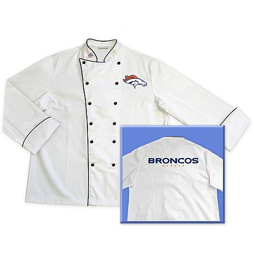 low priced ea658 21864 Tailgate 29 Chef Denver Broncos Embroidered Chef Coat   Game ...