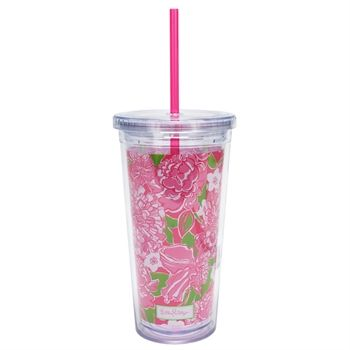 $15  Lilly Pulitzer May Flowers Tumbler with Straw  $15.00