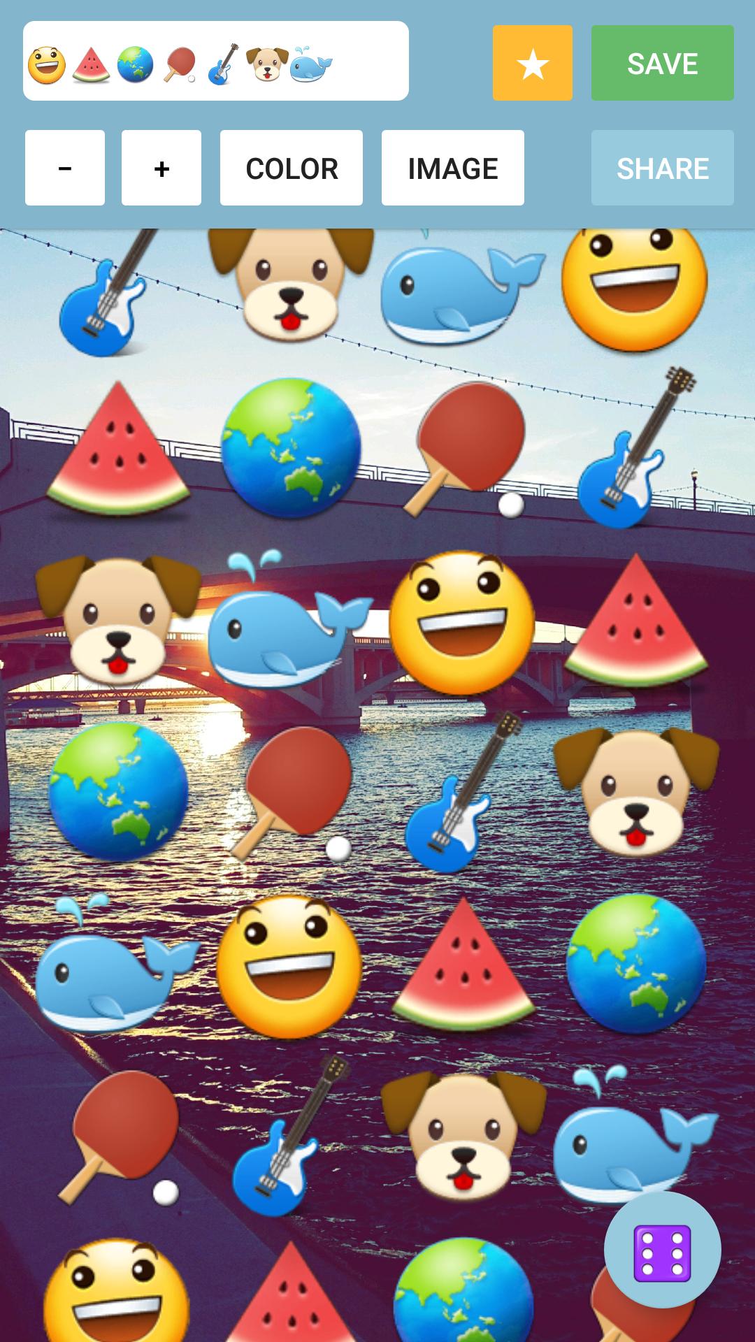 Made on Android Emoji wallpaper, Wallpaper maker app