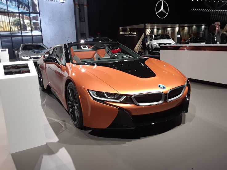 2018 New York International Auto Show Bmw I8 Roadster Car Bike And