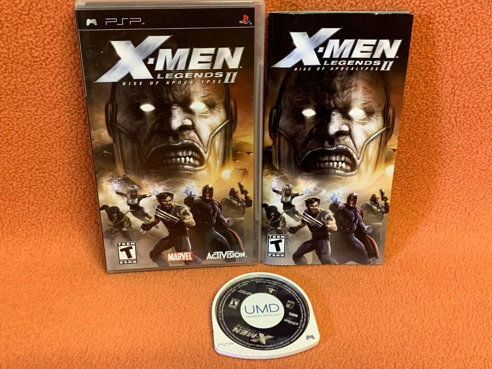 X Men Legends Ii Rise Of Apocalypse Sony Playstation Psp Portable Game Complete Ps4 Gaming Video X Men Apocalypse Psp