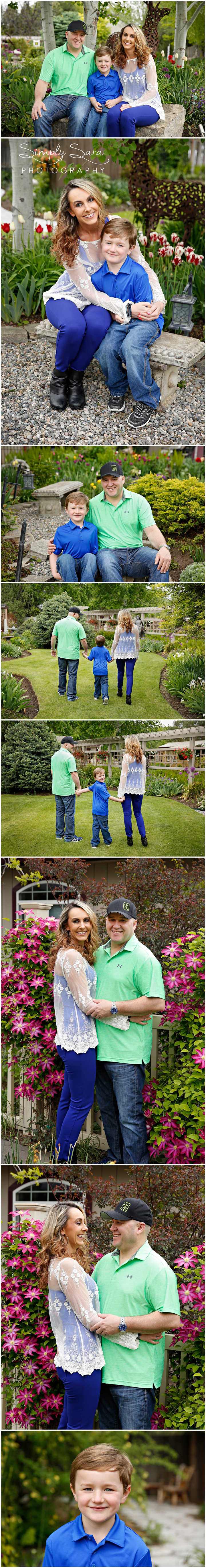 Outdoor Family Photo Ideas & Poses - Parents with Young Kids - What to Wear for Photos - Garden Setting - Billings, MT Family & Child Photographer