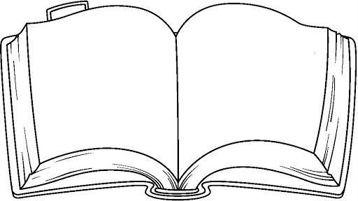 Black And White Book Clip Art Cliparts Co Kitap Haftasi Boyama Sayfalari Ve Kart Yapimi