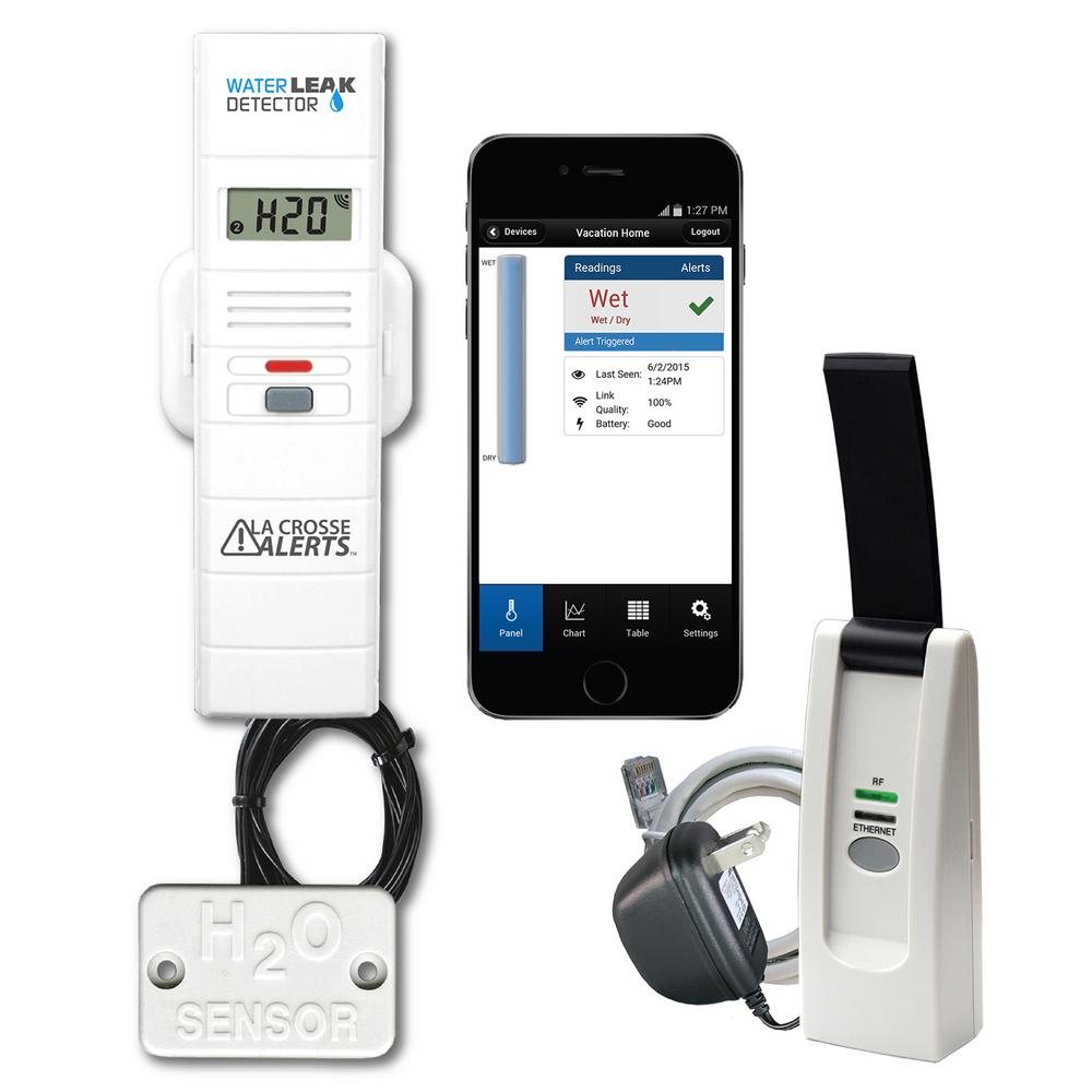 La Crosse Alerts Wireless Remote Water Leak Detector With Early Warning Alerts Humidity Sensor Temperature Humidity Weather Instruments