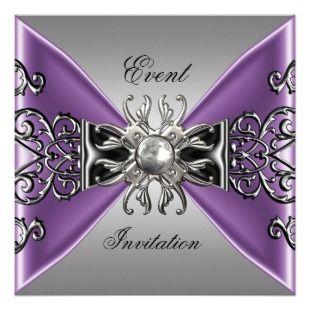 purple and silver wedding invitations   ... Invitation Mauve Purple ...