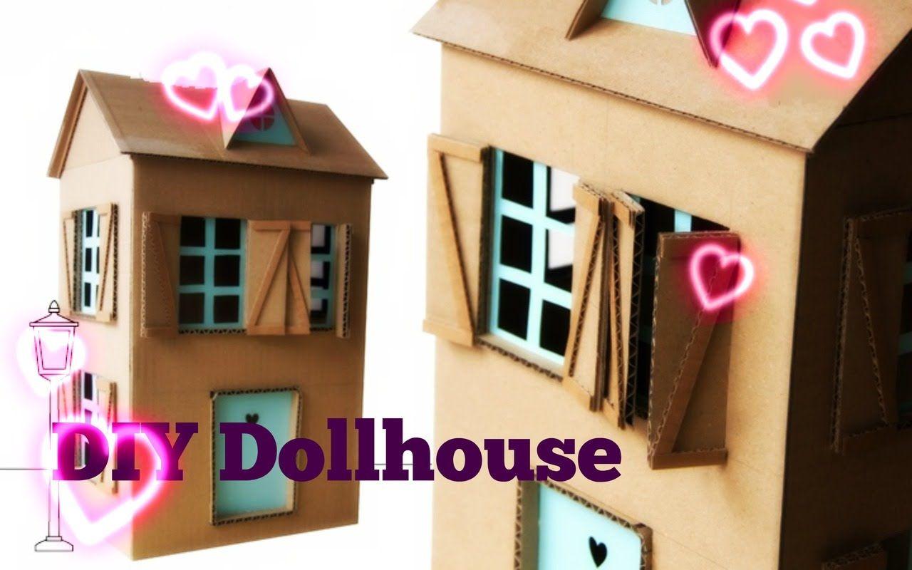 صنع بيت باربي من الكرتون Diy Doll House Easy And Fast Diy Dollhouse Crafts For Kids Doll House