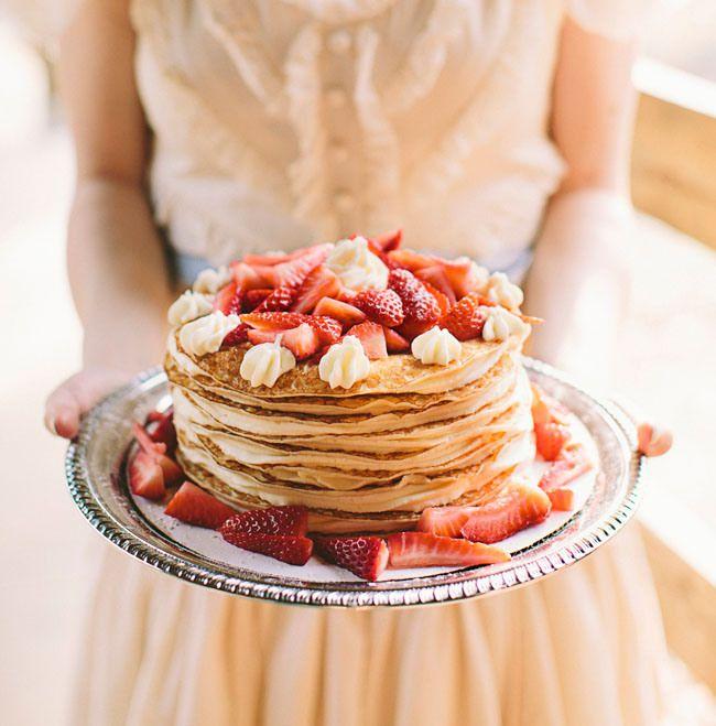 DIY: Un gâteau de crèpes | Gateau crepe, Repas mariage et Recettes de boissons