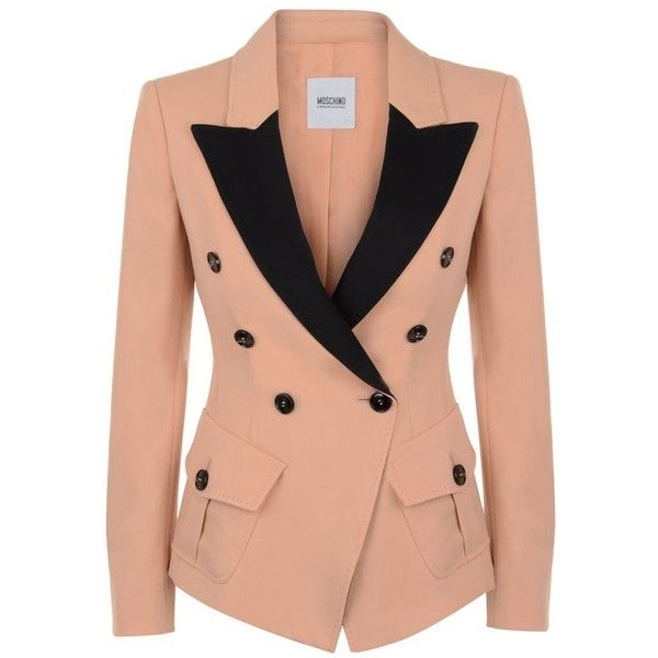 MOSCHINO CHEAP & CHIC Crepe Contrast Lapel Jacket ($1,060