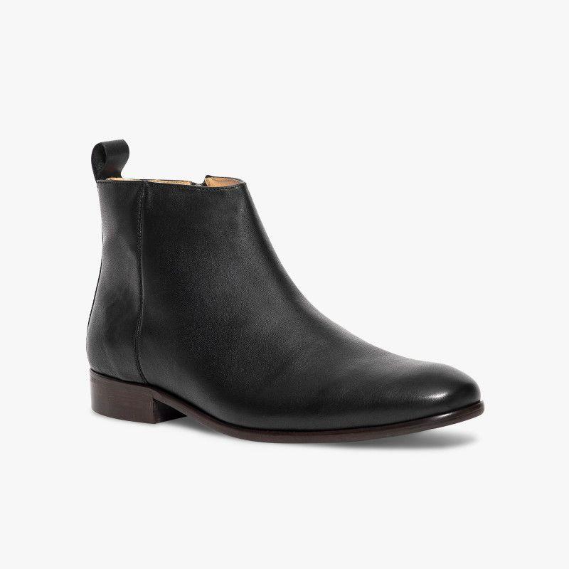 7a5a086adec Bocage boots Octavio cuir lisse tirette noir